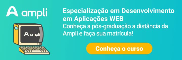 CTA curso de desenvolvimento em aplicações web da Ampli
